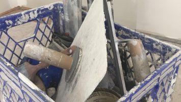 Mudding, taping, drywall, texture